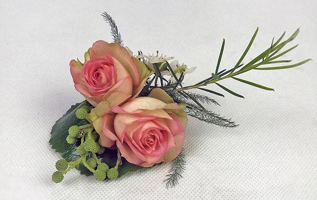 Anstecker für den Bräutigam, passend zu Brautstrauß Garden Spirit
