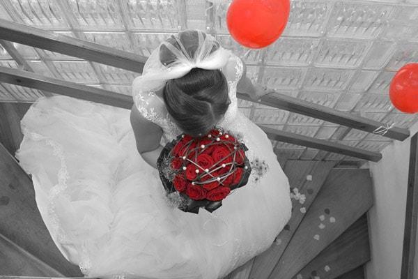Brautstrauß mit Ecuador Rosen Explorer