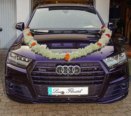 Hochzeit - Autoschmuck eines Audi