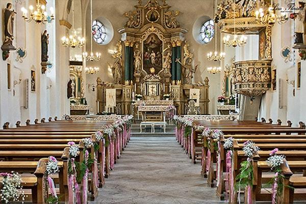 Hochzeit- Kirchendekoration einer Hochzeit in Rheda-Wiedenbrück
